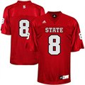 adidas North Carolina State Wolfpack #8 Replica Football Jersey - Scarlet