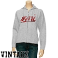 Nike Florida Atlantic University Owls Ladies Ash Classic Full Zip Vintage Hoody Sweatshirt