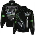 Seattle Seahawks Black On Fire Twill Full-Button Jacket