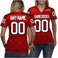 Jacksonville State Gamecocks Women's Personalized Fashion Football Jersey - Red