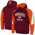 Virginia Tech Hokies Maroon-Orange Playmaker Pullover Hoodie Sweatshirt