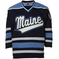 Maine Black Bears Navy Blue Tackle Twill Hockey Jersey