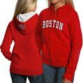Boston Terriers Ladies Scarlet Game Day Full Zip Hoody Sweatshirt