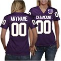 Western Carolina Catamounts Women's Personalized Fashion Football Jersey - Purple