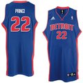 adidas Detroit Pistons #22 Tayshaun Prince Royal Blue Road Swingman Basketball Jersey