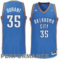 adidas Kevin Durant Oklahoma City Thunder Revolution 30 Swingman Performance Jersey-Royal Blue