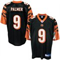 Reebok NFL Equipment Cincinnati Bengals #9 Carson Palmer Black Replica Football Jersey