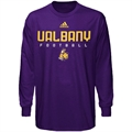 adidas Albany Great Danes Purple Sideline Long Sleeve T-shirt