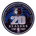 Minnesota Timberwolves Embroidered 20th Anniversary Collectible Patch