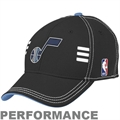 adidas Utah Jazz Black Official Draft Day Performance Stretch Fit Hat