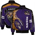 Baltimore Ravens Purple-Gold Red Zone Full Button Twill Jacket