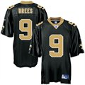 Reebok NFL Equipment New Orleans Saints #9 Drew Brees Black Replica Football Jersey