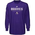adidas Alcorn State Braves Purple Sideline Long Sleeve T-shirt