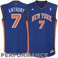 adidas Carmelo Anthony New York Knicks Revolution 30 Performance Jersey - Royal Blue
