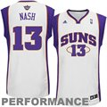 adidas Steve Nash Phoenix Suns Revolution 30 Swingman Performance Jersey - White