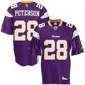 Reebok Minnesota Vikings #28 Adrian Peterson Purple Replica Football Jersey