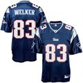 Reebok New England Patriots #83 Wes Welker Navy Blue Replica Football Jersey
