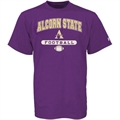 Russell Alcorn State Braves Purple Football T-shirt