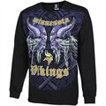 Minnesota Vikings Faceoff Long Sleeve T-Shirt - Black