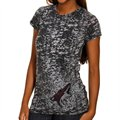 Phoenix Coyotes Ladies Scroll Burnout Premium Crew T-shirt - Black