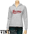 Nike Bradley Braves Ladies Ash Classic Full Zip Vintage Hoody Sweatshirt