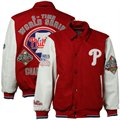 Philadelphia Phillies Red-White 2X World Series Champions Commemorative Wool & Leather Jacket
