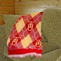 Tuskegee Golden Tigers  69'' x 48'' Argyle Jacquard Woven Blanket Throw