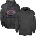 Sportiqe-ESPN Detroit Pistons Charcoal Pancakes Distressed Full Zip Hoody Sweatshirt