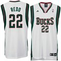 adidas Milwaukee Bucks #22 Michael Redd White Home Swingman Jersey