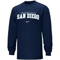 Nike San Diego Toreros Navy Blue College Classic Long Sleeve T-shirt