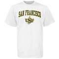 San Francisco Dons White Youth Bare Essentials T-shirt