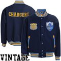 Mitchell & Ness San Diego Chargers Navy Blue Halfback Throwback Wool Jacket