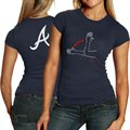 Nike Atlanta Braves Ladies Navy Blue Local T-shirt