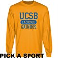 UC Santa Barbara Gauchos Gold Custom Sport Long Sleeve T-shirt -