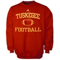 adidas Tuskegee Golden Tigers Red Collegiate Crew Sweatshirt