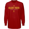 adidas Tuskegee Golden Tigers Red Sideline Long Sleeve T-shirt