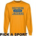 Southern University Jaguars Custom Sport Long Sleeve T-shirt - Gold