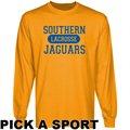 Southern University Jaguars Custom Sport Long Sleeve T-shirt - Gold