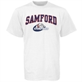 Samford Bulldogs White Bare Essentials T-shirt