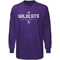 adidas Weber State Wildcats Purple Sideline Long Sleeve T-shirt