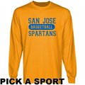 San Jose State Spartans Gold Custom Sport Long Sleeve T-shirt -