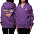 Northern Iowa Panthers Ladies Purple Frost Slub V-neck Hoody Sweatshirt