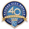 Kansas City Royals 40th Anniversary Embroidered Collector Patch