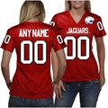 South Alabama Jaguars Women's Personalized Fashion Football Jersey - Red