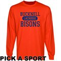 Bucknell Bison Custom Sport Long Sleeve T-shirt - Orange