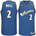 adidas John Wall Washington Wizards Revolution 30 Swingman Performance Jersey-Slate Blue