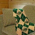 San Francisco Dons 69'' x 48'' Argyle Jacquard Woven Blanket Throw
