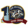 Nashville Predators 10th Anniversary Collectible Logo Patch