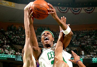 Pierce scored 22 points, 11 of them after he returned from a strained knee.