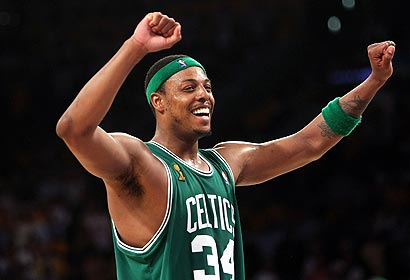 Paul Pierce has carried the Celtics within one win of their 17th championship.